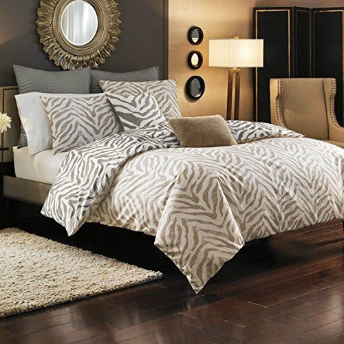 Style Domain Kenyon Zebra Animal Print Queen Full Duvet Cover Set